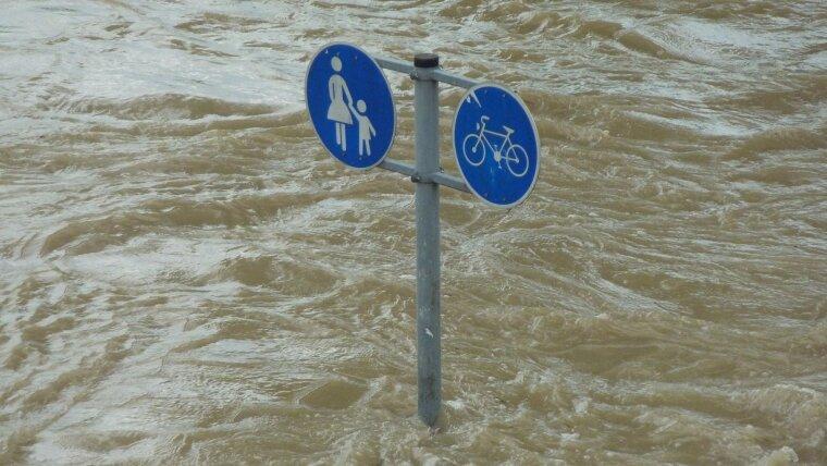 Hochwasser als Zeichen des Klimawandels